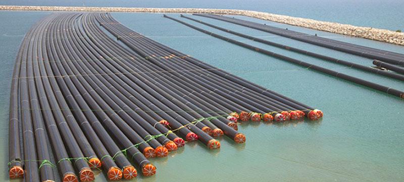 استفاده از لوله های پلی اتیلن در خطوط انتقال آب دریا